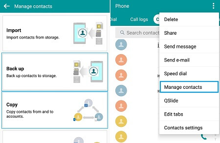 lg backup contacts to google