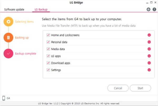 lg bridge backup