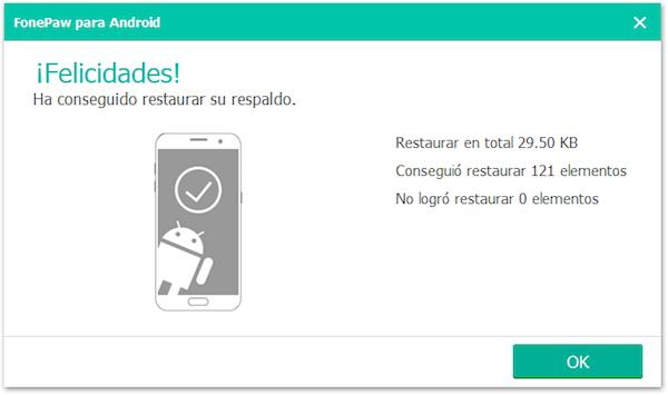 restauración de datos del celular HTC