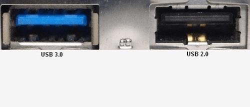 puerto de USB 3.0 vs puerto de USB 2.0