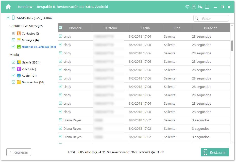 recuperar historial de llamadas Android
