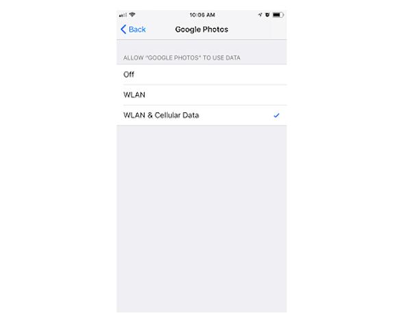 WLAN datos de celular