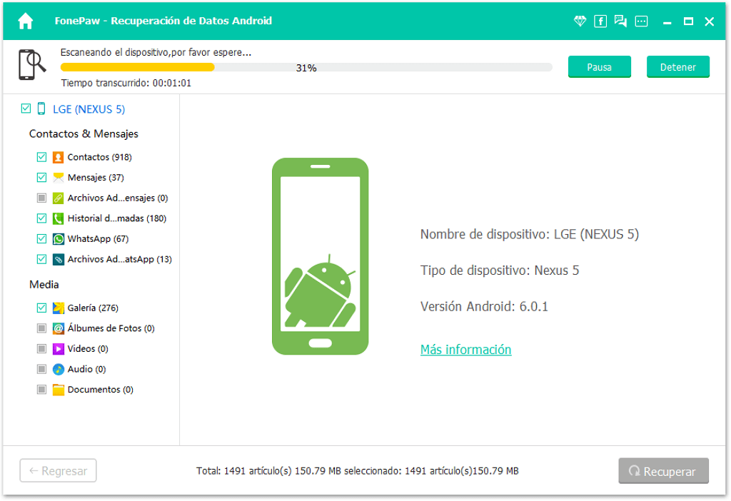 Analizar datos de Android