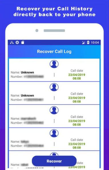 Recuperación de historial de llamadas