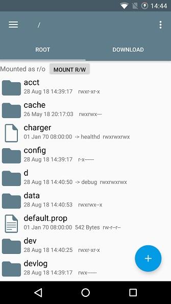 directorio root en Android