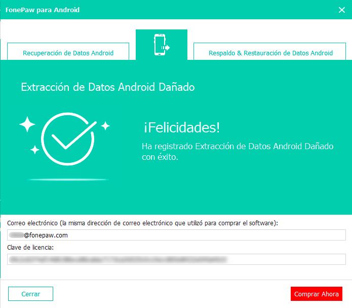 introducir dirección de correo electrónico y clave de liencia EDAD