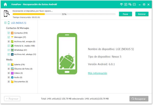 Recuperar datos Android