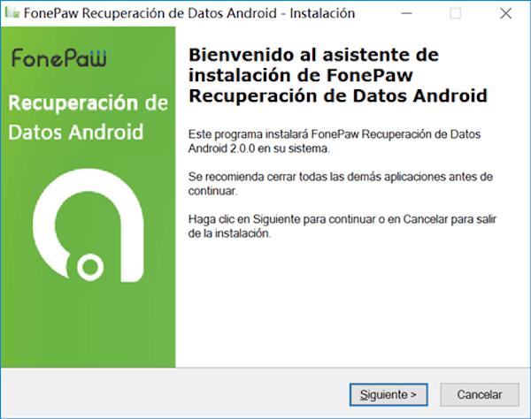 empezar a instalar recuperación de datos android