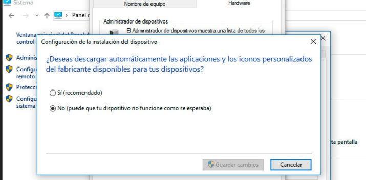 actualizar controladores en administrador de dispositivos