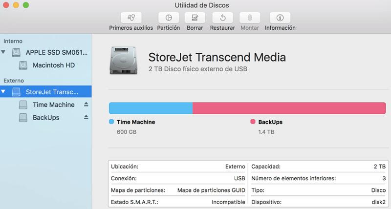 borrar disco duro externo en Utilidad de Discos Mac