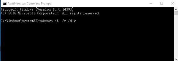 ejecutar comando TAKEWN/F/R/DY