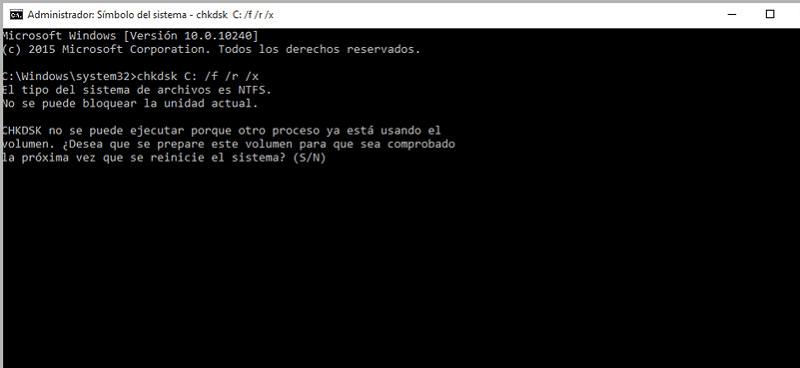 comando de sistema CHKDSK