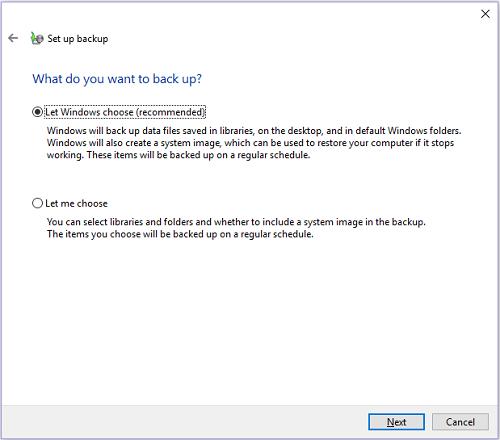 respaldar PC en disco duro externo