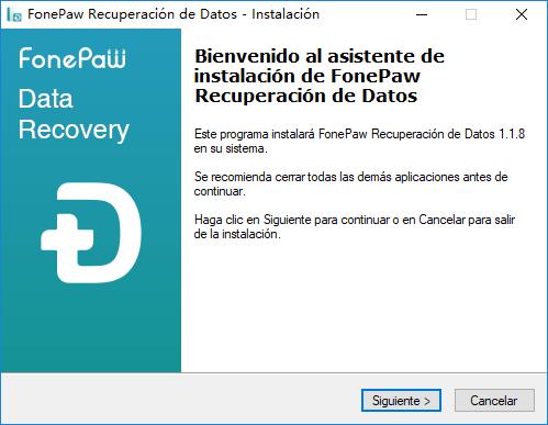 emprezar a instalar fonepaw recuperación de datos