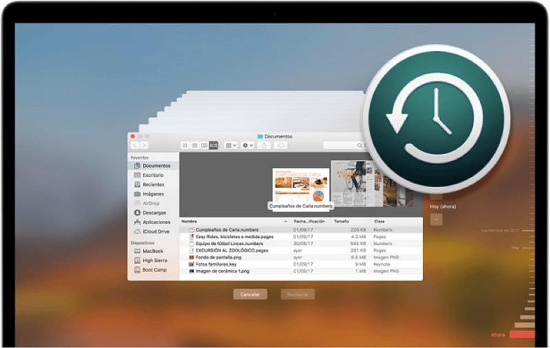 recuperar mensajes de iMessage con Time Machine