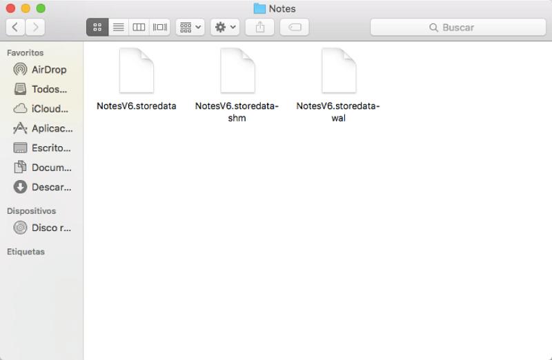 recuperar notas desaparecidas desde archivos