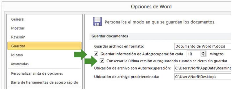 recuperar archivo PowerPoint con Autorrecuperación