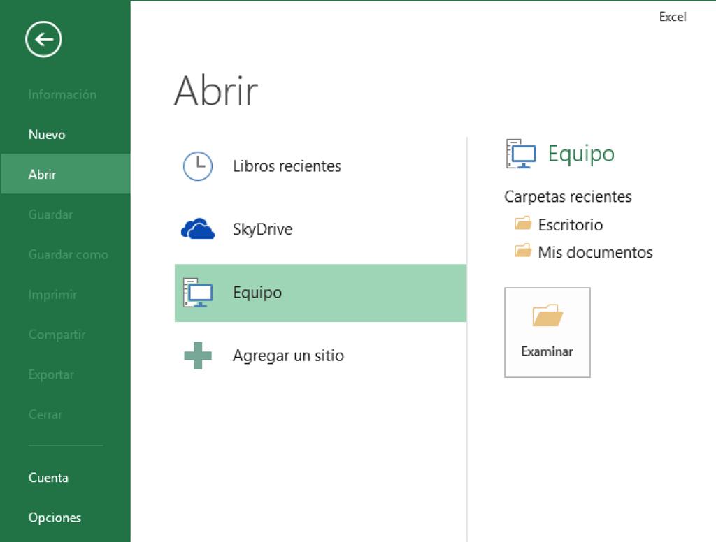 ver el archivo Excel en la computadora