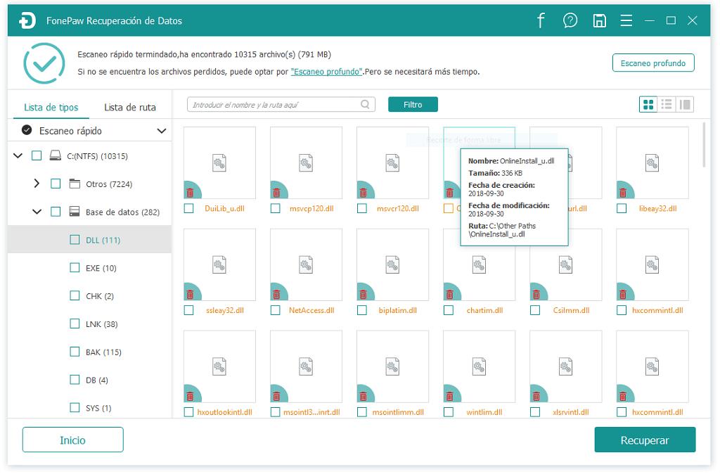recuperar archivo de DLL