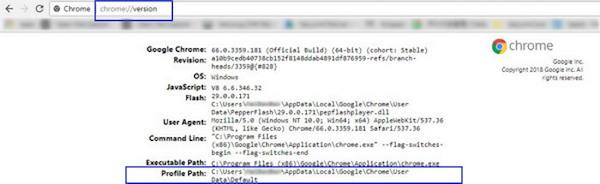 recuperar historial de Google Chrome por ruta