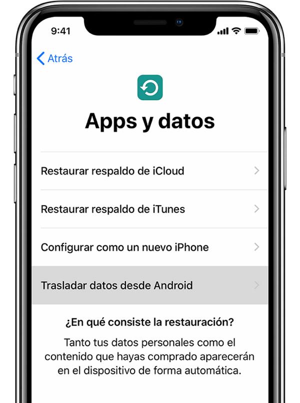 Apps y Datos en iPhone