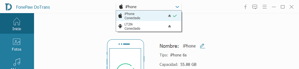 conectar iPhone y Android con Dotrans