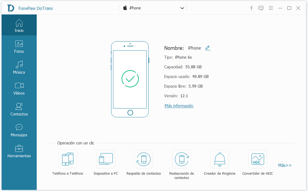 conectar iPhone con Dotrans
