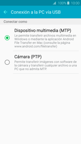 transferir archivos multimedia Android a Windows
