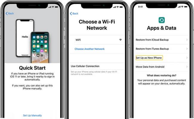 Configurar iPhone como nuevo con Inicio Rápido