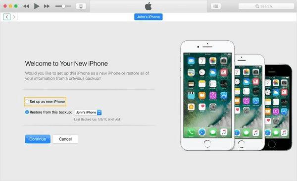 Configurar iPhone como nuevo en iTunes