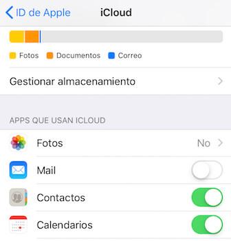 desactivar Mail en iCloud