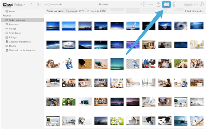 descargar fotos de iCloud de PC a Android
