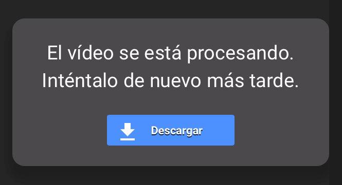 El vídeo se está procesando Google Drive