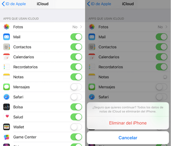 eliminar respaldo del iPhone