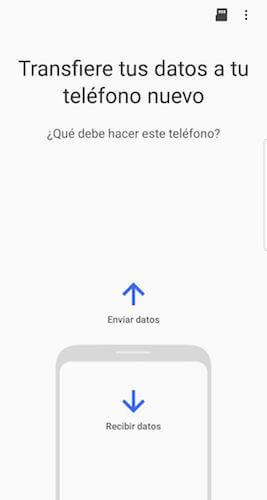 enviar o recibir datos de Samsung