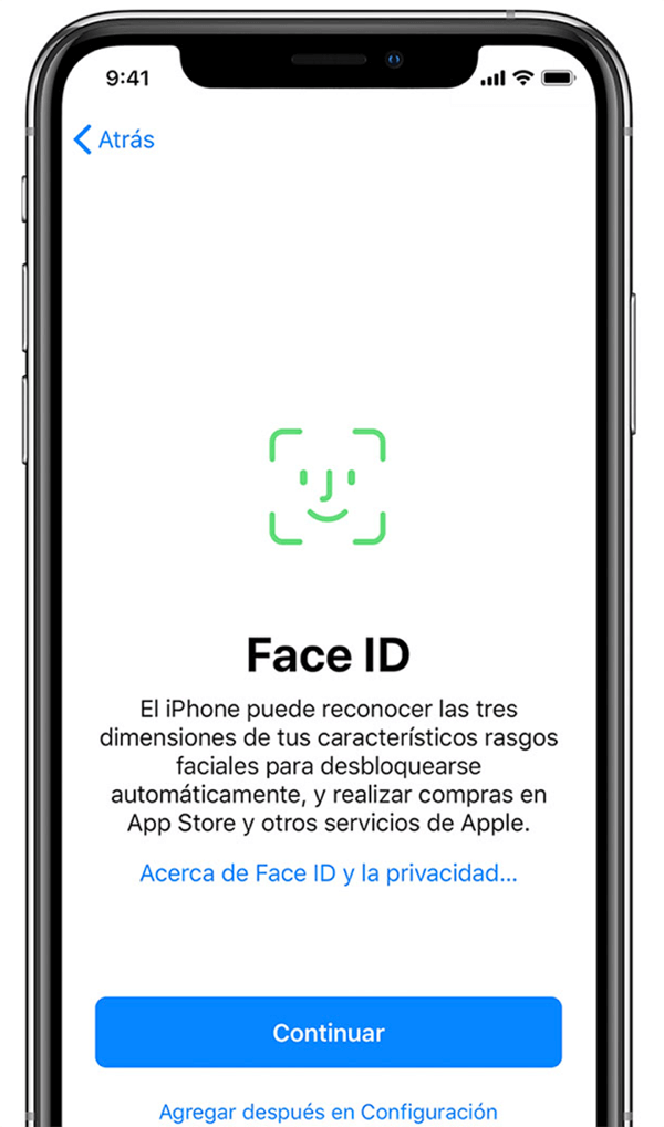 Establecer tu Face ID