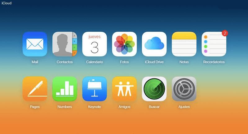 pasar notas de iPhone a Android con iCloud
