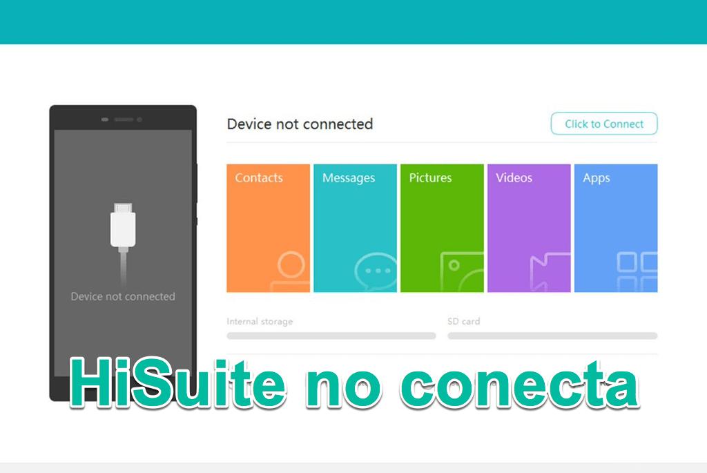 Huawei Hisuite no conecta