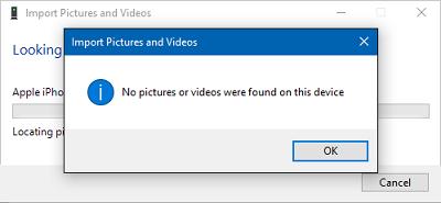 no se puede pasar fotos de iPhone a PC