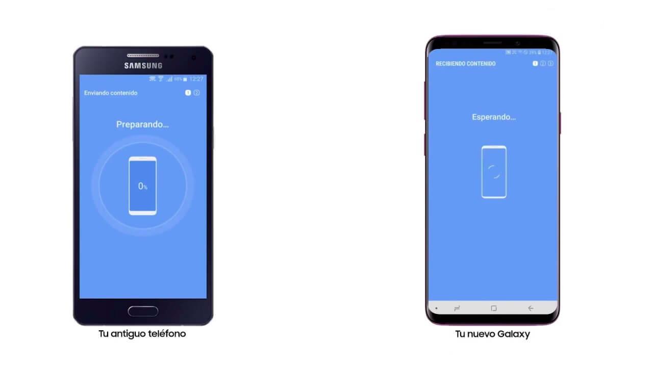 pasando datos de Samsung a Samsung