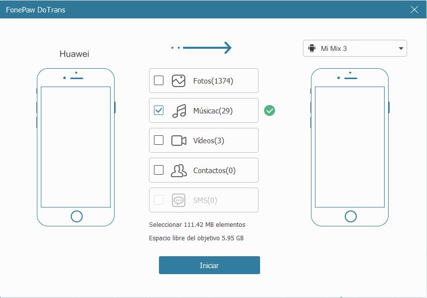 pasar datos de Huawei a Xiaomi