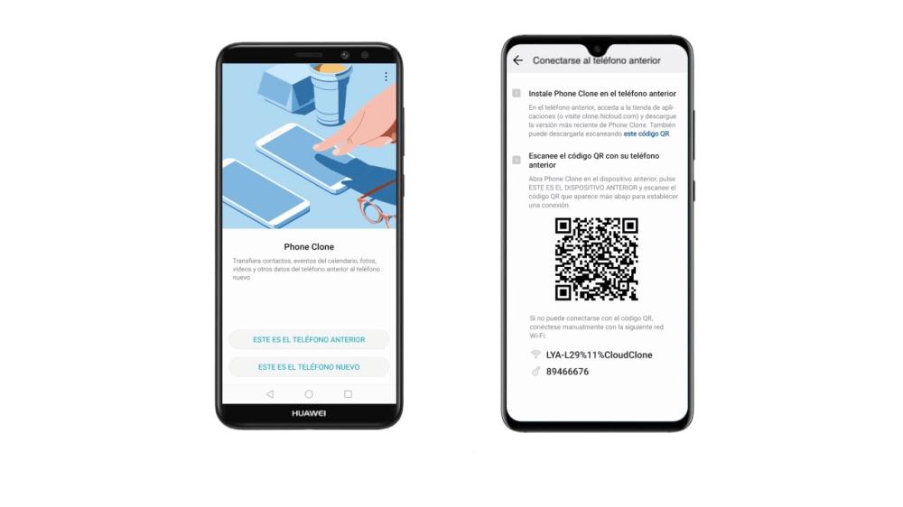 pasar datos de Huawei a otro con Phone Clone