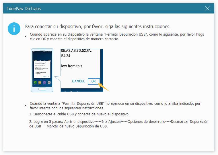 permitir depuración USB de Android