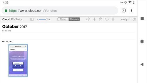 previsualizar fotos de iCloud
