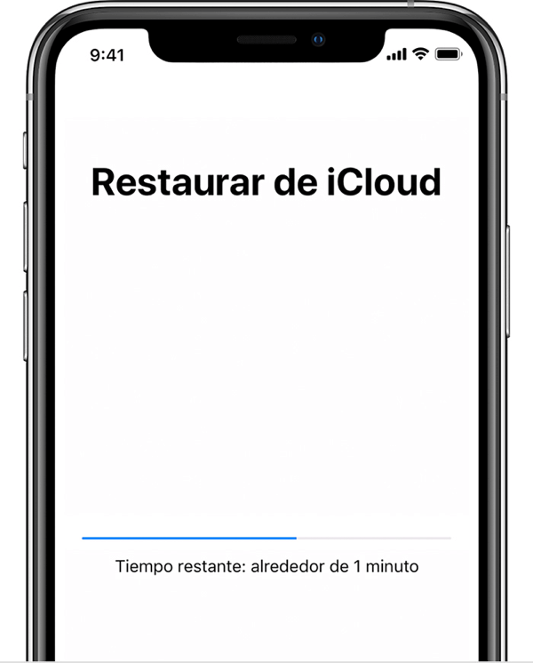 Restaurar respaldo de iCloud