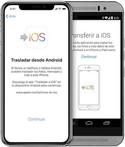 aplicación Transferir a iOS