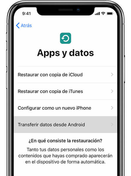 transferir datos desde Android