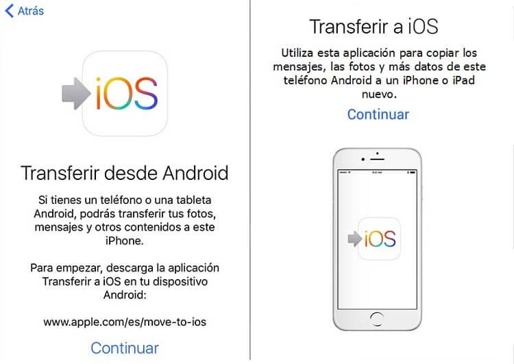 transferir desde Android