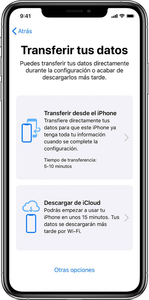 Transferir tus datos