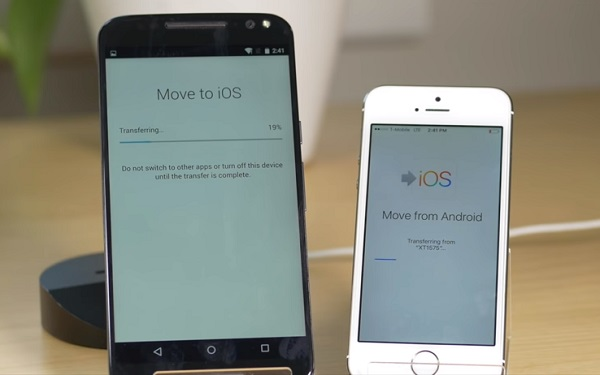 Trasferir a iOS se traba
